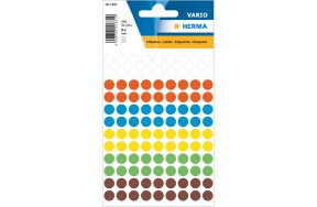 HERMA COLOUR ROUND LABELS D8mm